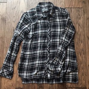 Michael Stars plaid button down top size large